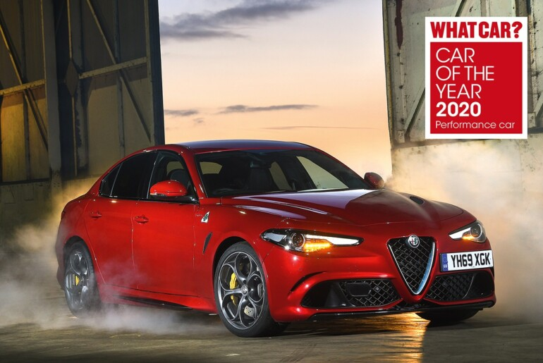 Giulia Quadrifoglio: S tretjo zaporedno zmago tudi do nagrade »Car of the Year 2020«