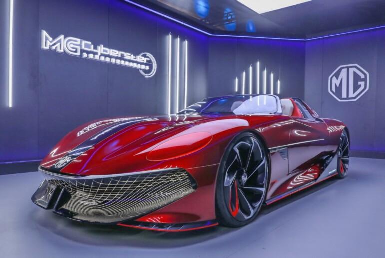 MG Cyberster pripravljen na premiero na avtomobilskem salonu v Šanghaju