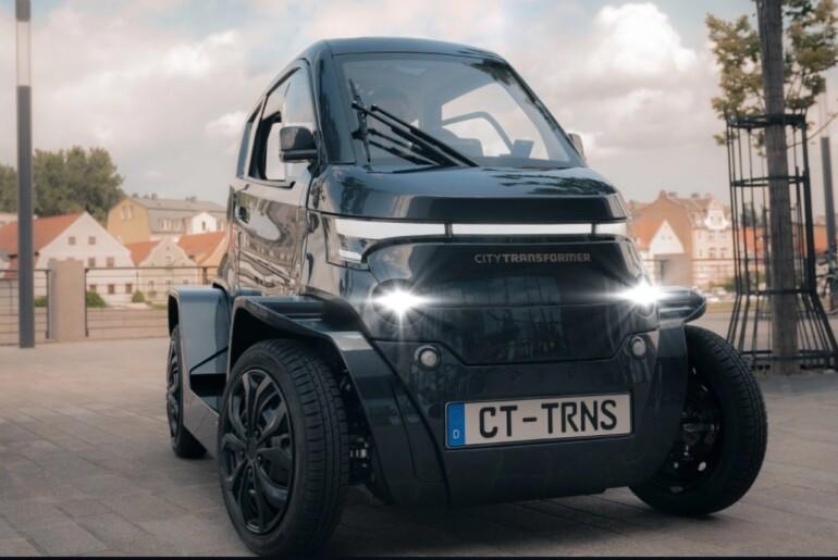 City Transformer CT1: prvi majhen, zložljivi električni avtomobil za zabavo in še kaj več